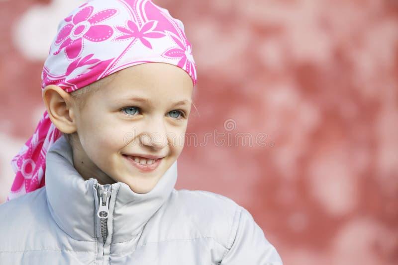 Bambino con cancro fotografia stock