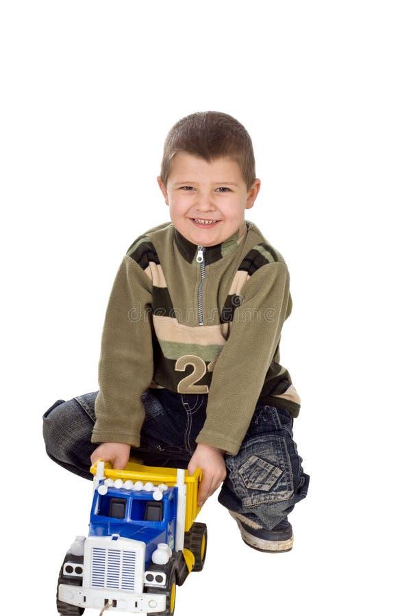 Bambino con l'automobile fotografie stock libere da diritti