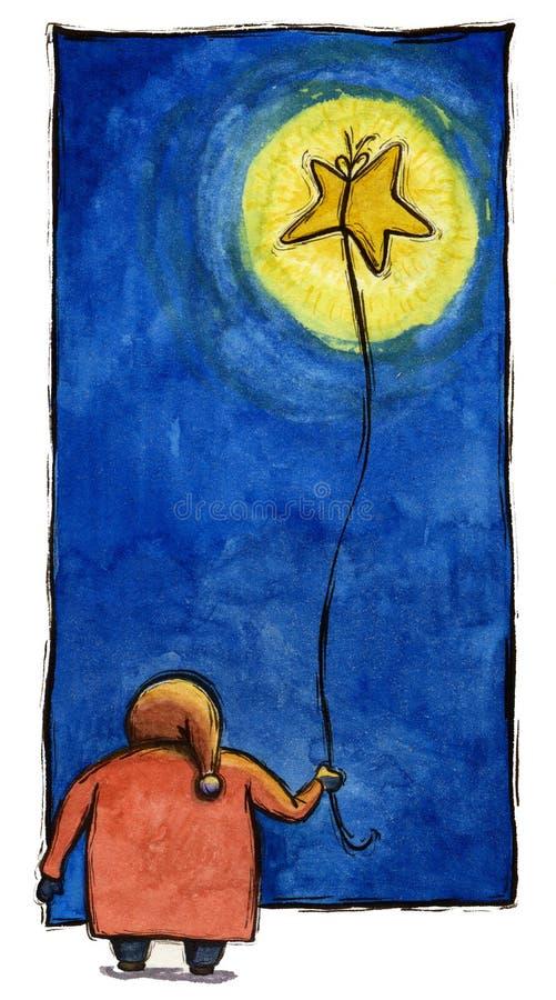 Bambino con la stella illustrazione vettoriale