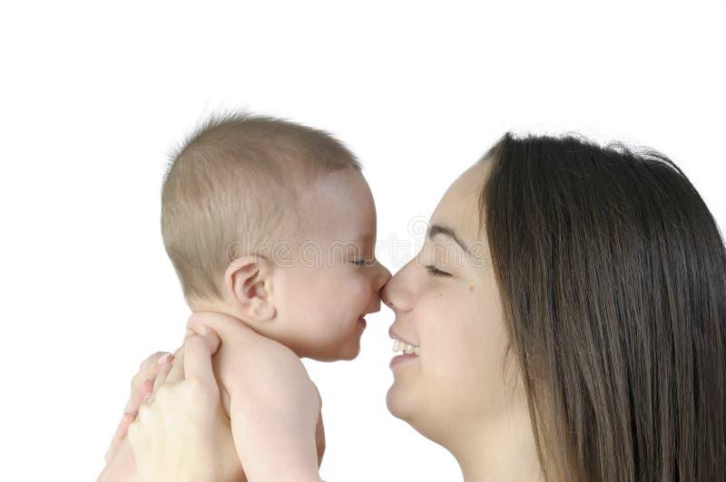 Bambino con la sua madre immagine stock