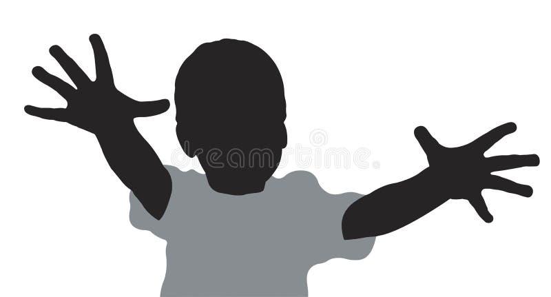 Bambino con le barrette illustrazione vettoriale