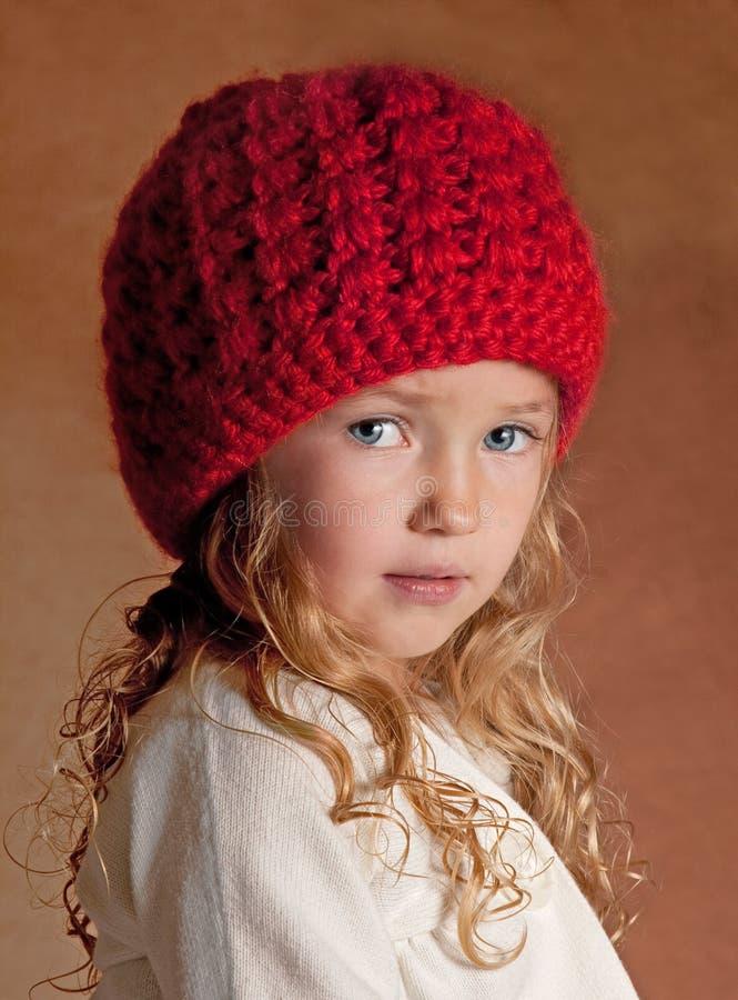 Bambino con Red Hat fotografia stock libera da diritti