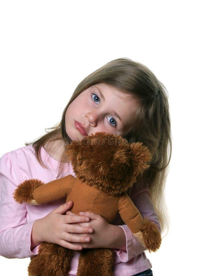 Bambino con teddybear fotografia stock libera da diritti
