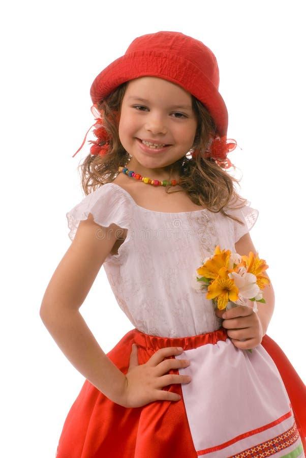 Bambino con un sorriso charming immagine stock libera da diritti