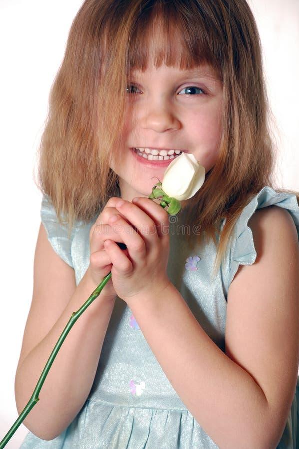 Bambino con una rosa fotografie stock libere da diritti
