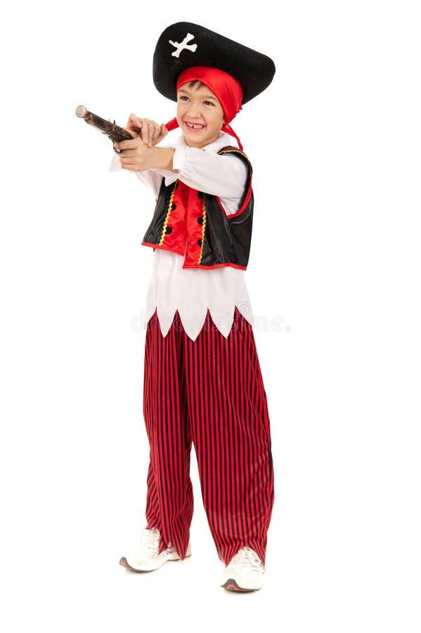 Bambino in costume - piccolo pirata fotografie stock