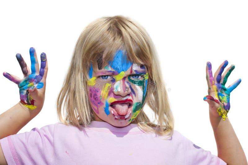 Bambino creativo fotografie stock