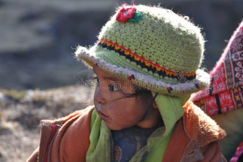 Bambino dal Perù fotografie stock libere da diritti