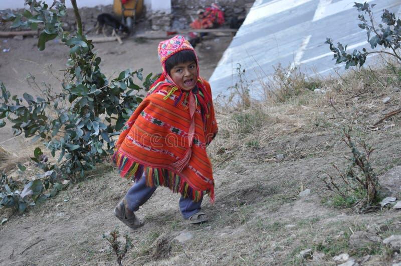 Bambino dal Perù fotografia stock libera da diritti