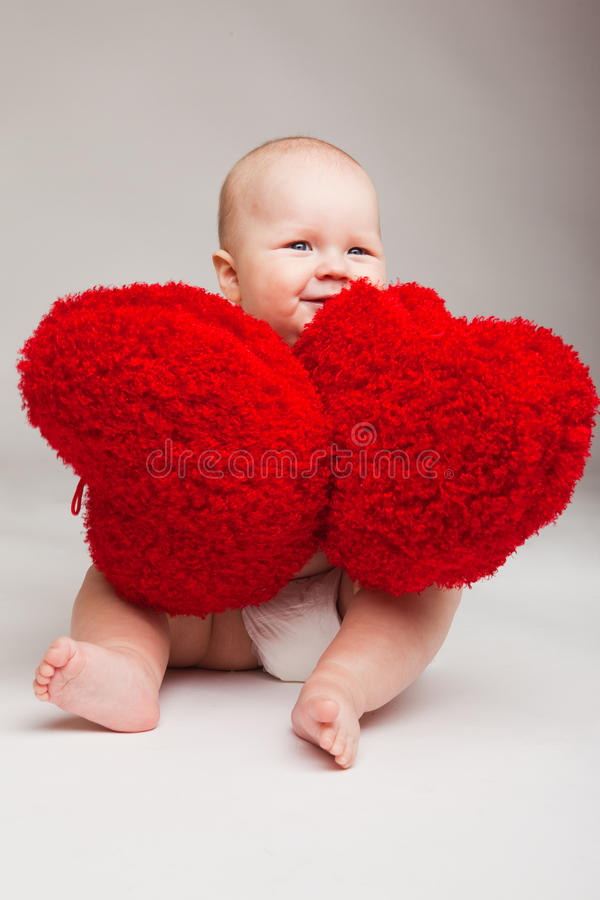 Bambino del biglietto di S. Valentino immagini stock