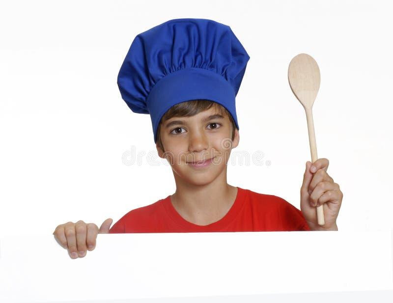 Bambino del cuoco. immagini stock libere da diritti