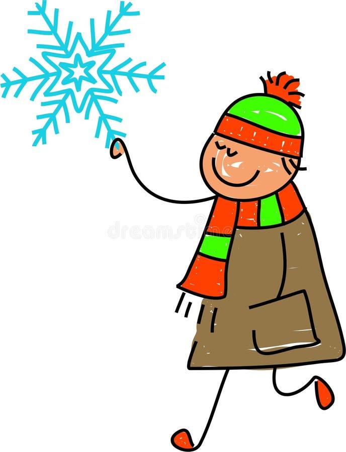 Bambino del fiocco di neve illustrazione di stock