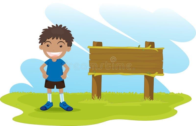 Bambino del fumetto illustrazione di stock