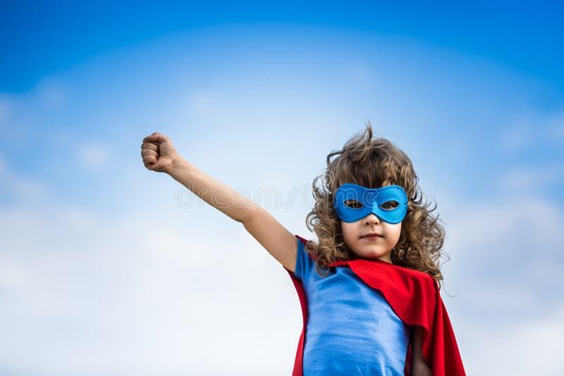 Bambino del supereroe fotografia stock