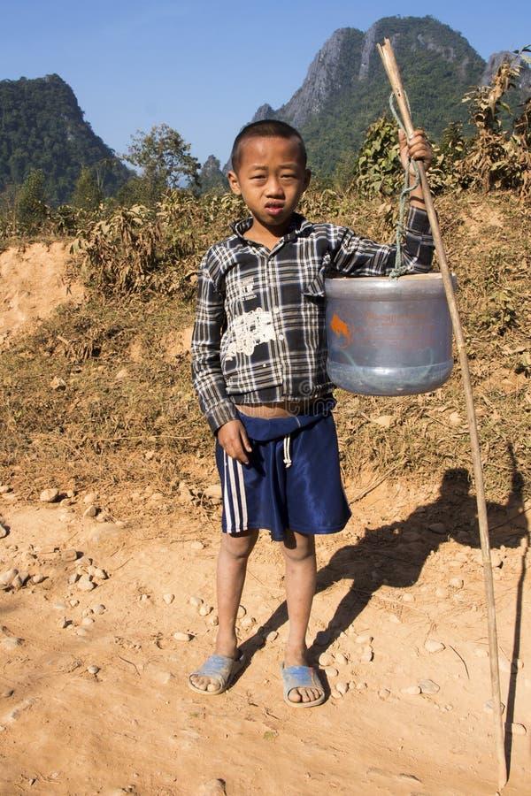 Bambino del villaggio fotografia stock