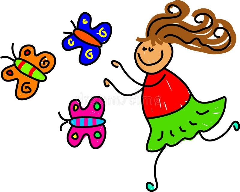 Bambino della farfalla illustrazione di stock