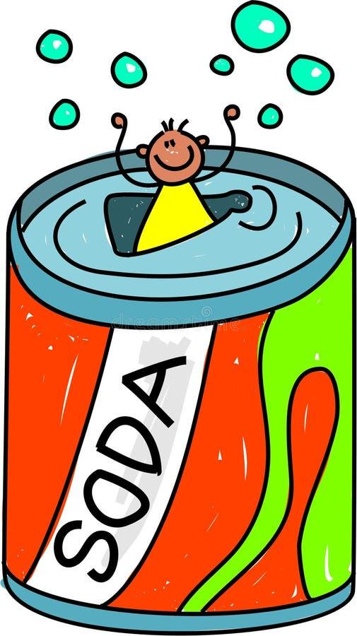 Bambino della soda illustrazione di stock