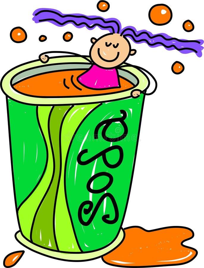 Bambino della soda royalty illustrazione gratis