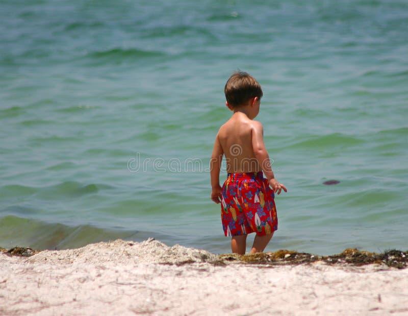 Bambino della spiaggia immagine stock