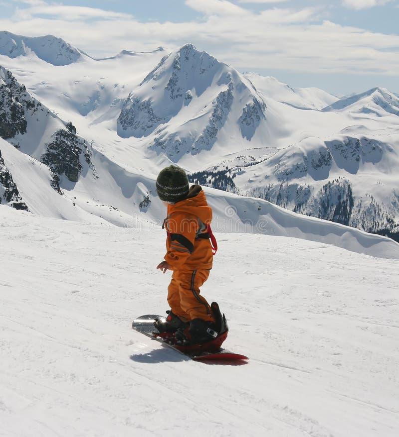 Bambino dello Snowboard fotografia stock libera da diritti