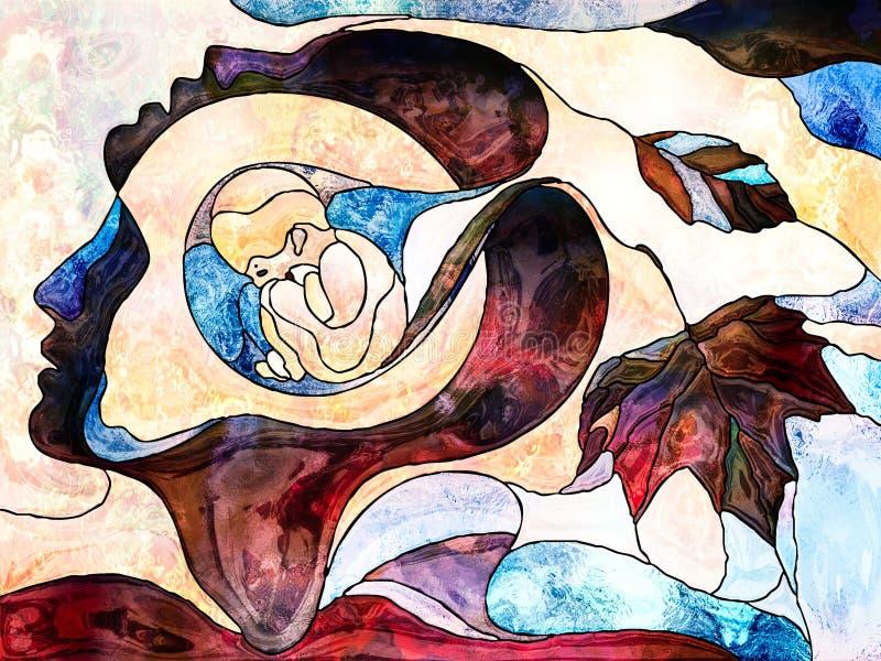 Bambino dentro illustrazione vettoriale