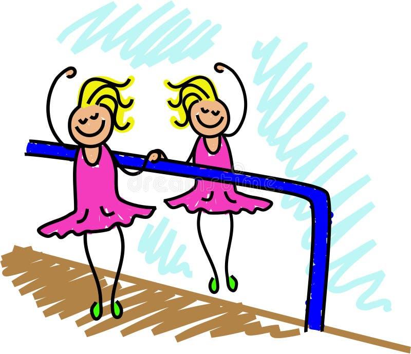 Bambino di balletto illustrazione di stock