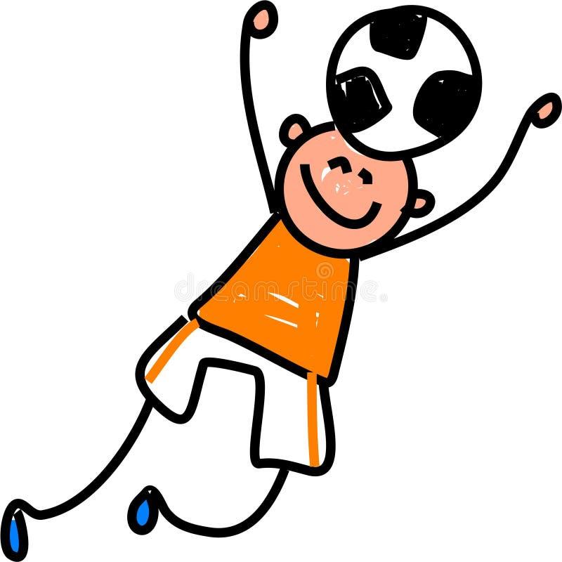 Bambino di calcio illustrazione di stock