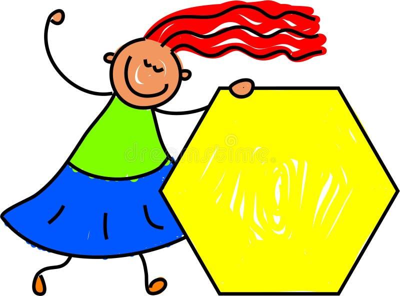 Bambino di esagono illustrazione di stock