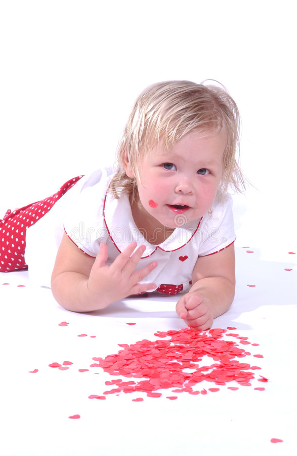 Download Bambino Di Giorno Del Biglietto Di S. Valentino Fotografia Stock - Immagine di ragazza, giorno: 7311106