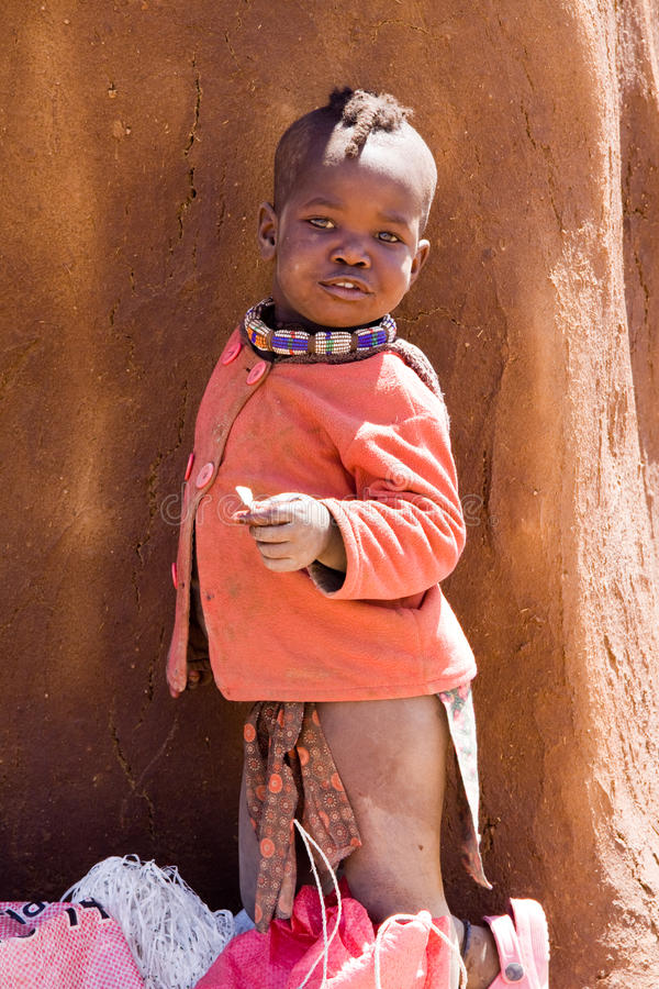 Bambino di Himba fotografia stock