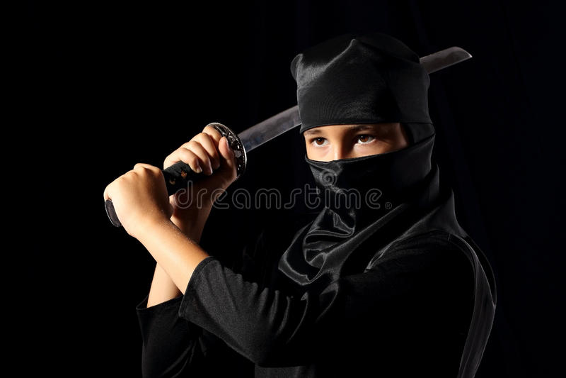 Bambino di Ninja fotografia stock