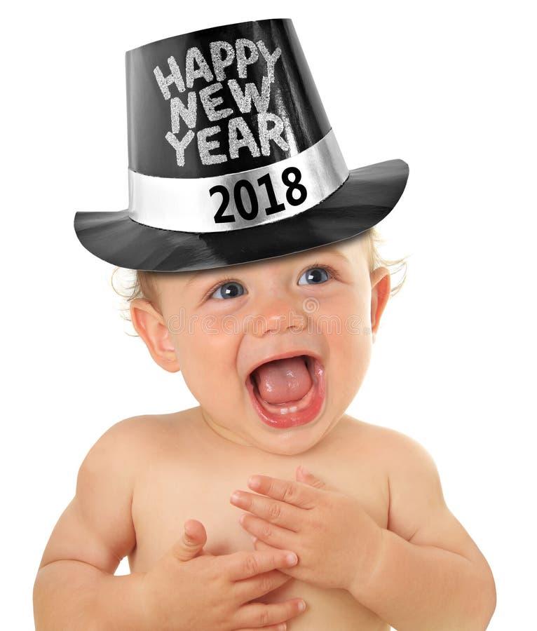 Bambino di nuovo anno felice immagini stock libere da diritti