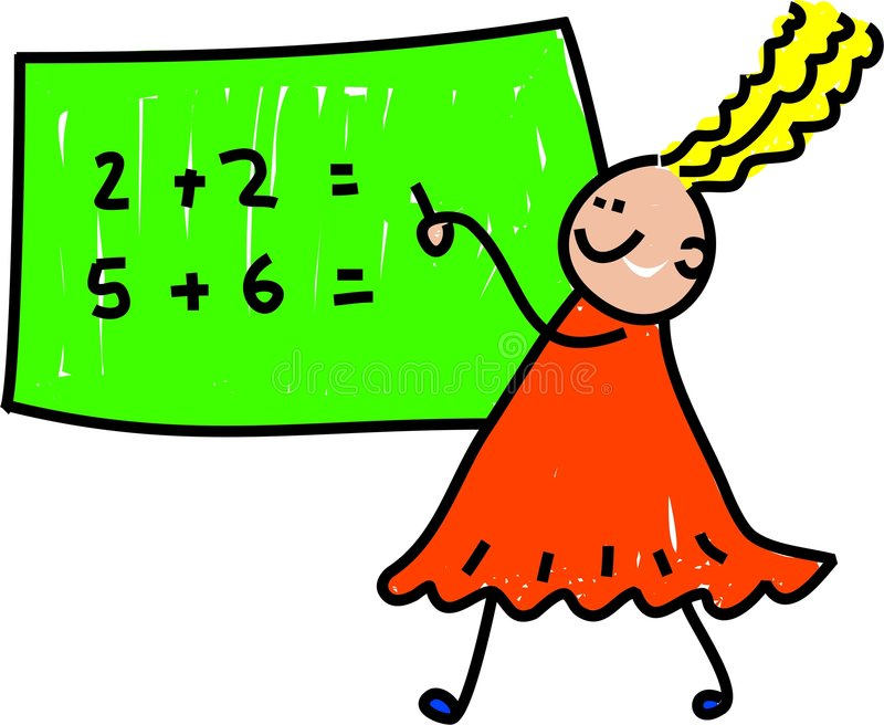 Bambino di per la matematica illustrazione vettoriale