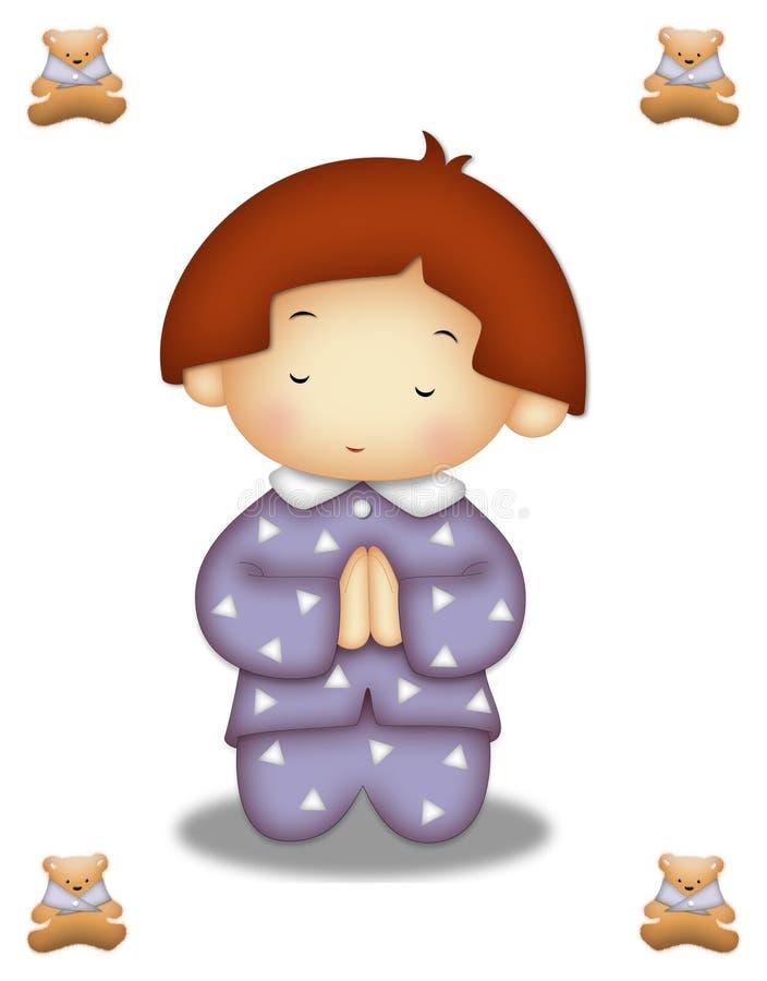 Bambino di preghiera illustrazione vettoriale