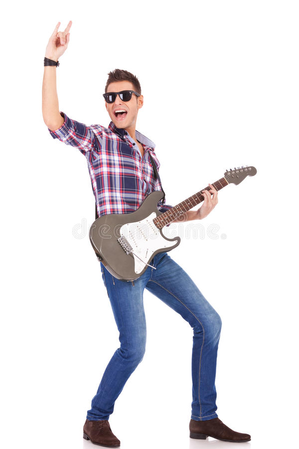 Bambino di rock-and-roll! immagine stock libera da diritti