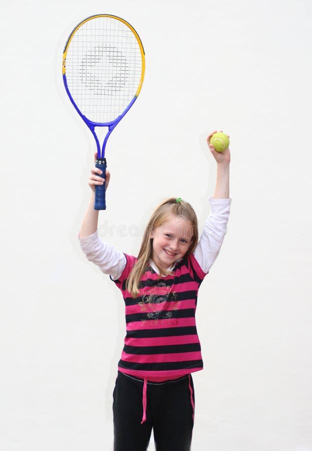 Bambino di tennis fotografie stock libere da diritti