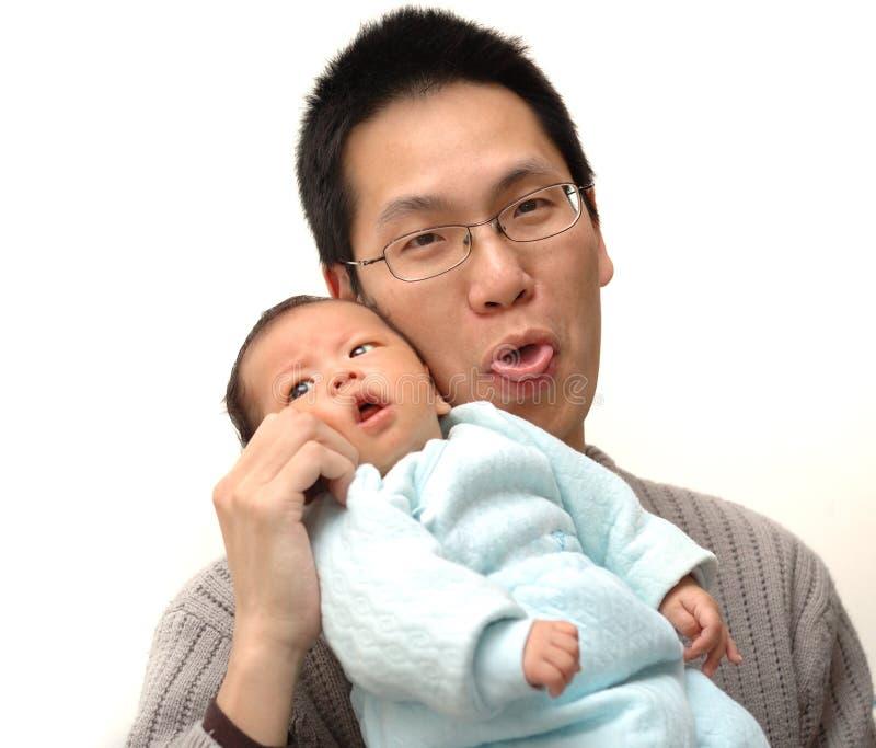 Bambino e padre immagini stock libere da diritti