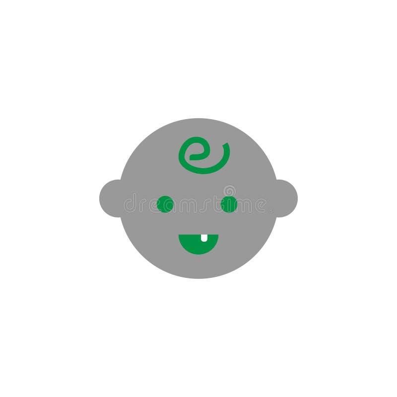 Bambino e prima icona del dente Elemento dell'icona di cure odontoiatriche per i apps mobili di web e di concetto Il bambino dett illustrazione di stock