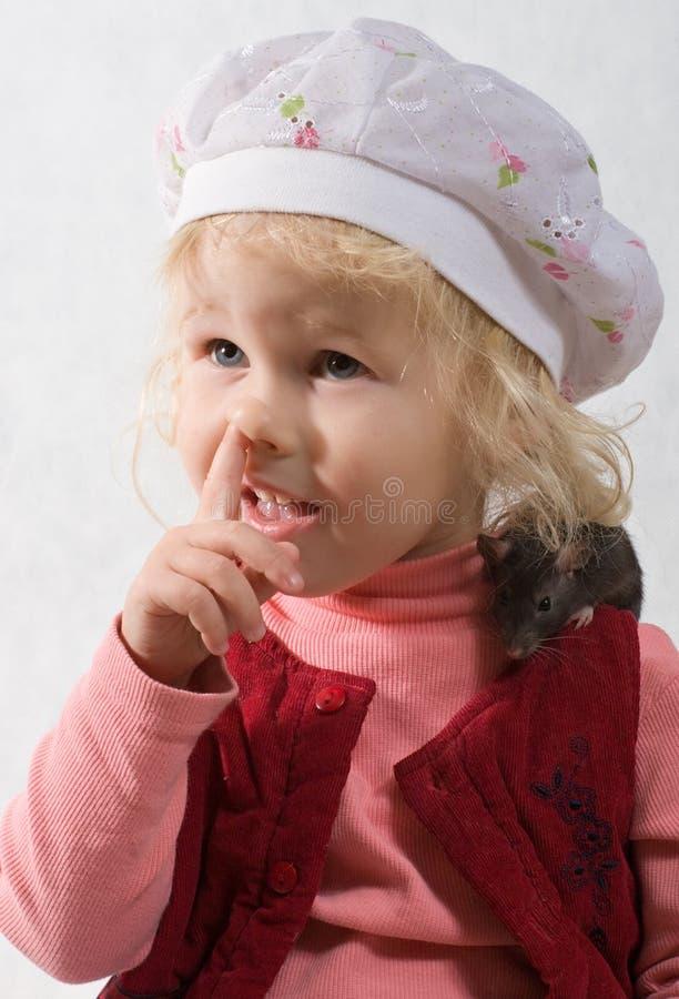 Bambino e ratto fotografia stock libera da diritti