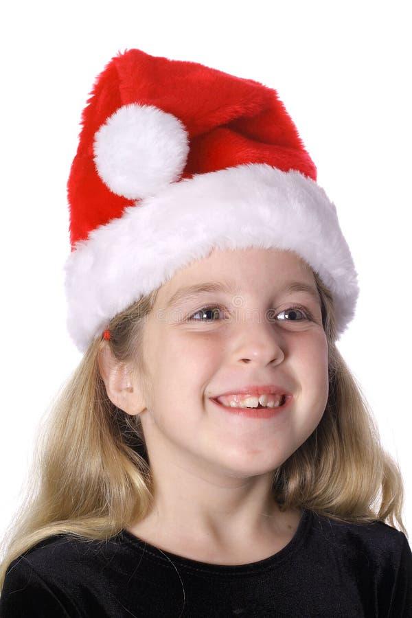 Bambino felice in cappello della Santa immagine stock libera da diritti