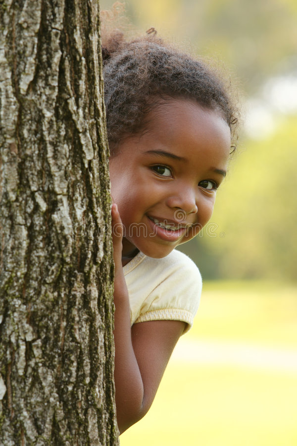 Bambino felice dell'afroamericano immagine stock
