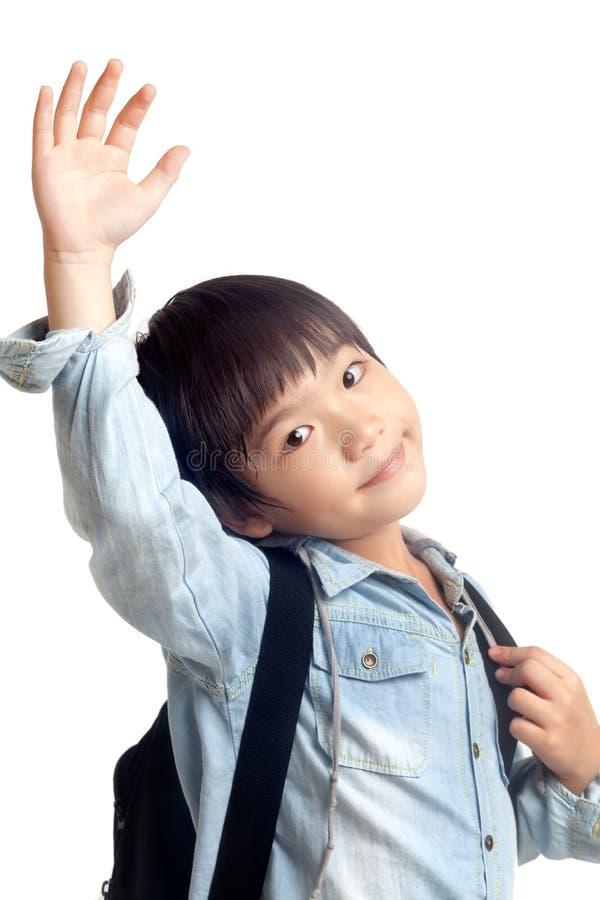 Bambino felice della scuola immagini stock libere da diritti