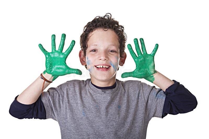 Bambino felice e divertente fotografia stock libera da diritti