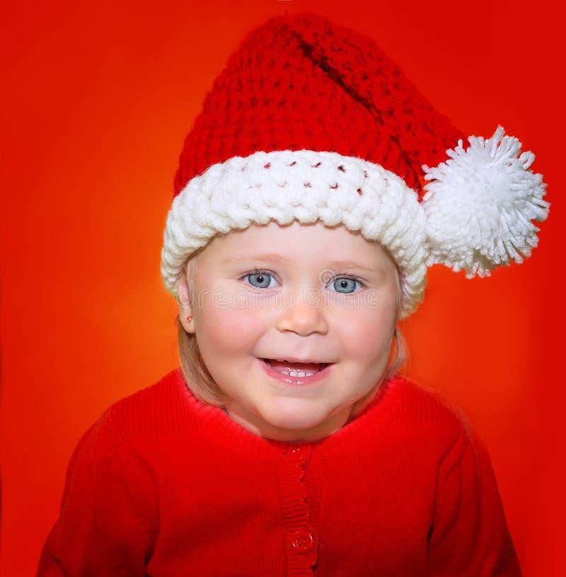 Bambino felice Santa fotografia stock