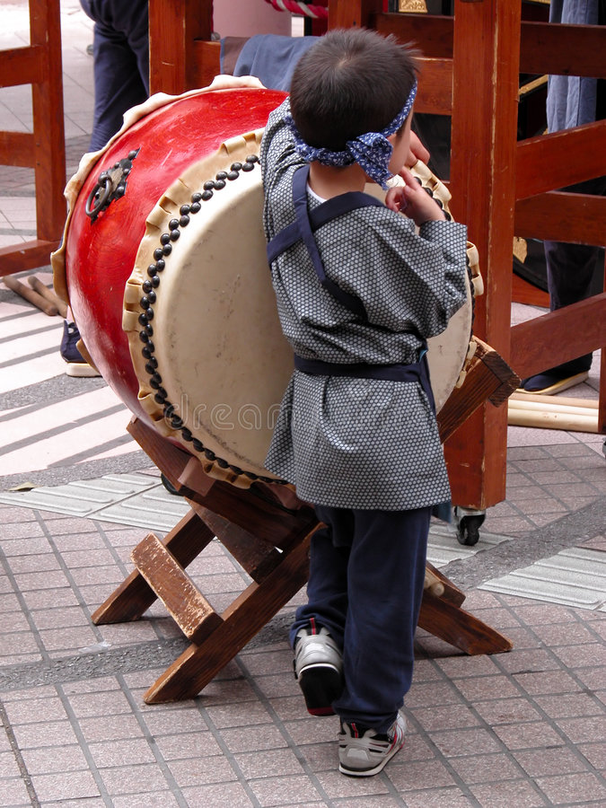 Bambino giapponese divertente fotografia stock libera da diritti