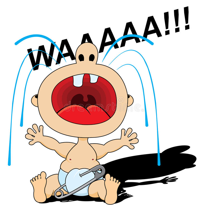 Bambino gridante illustrazione di stock