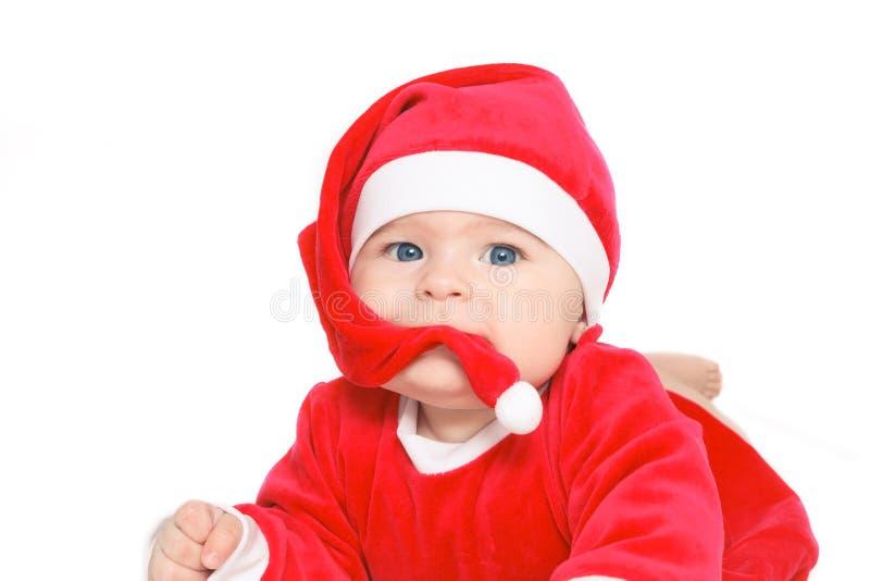 Bambino il Babbo Natale fotografia stock