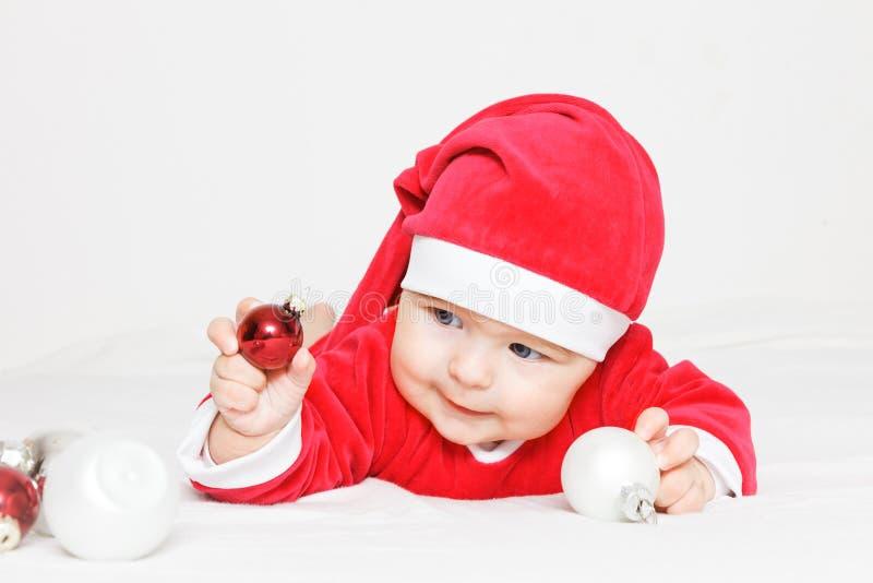 Bambino il Babbo Natale fotografia stock libera da diritti