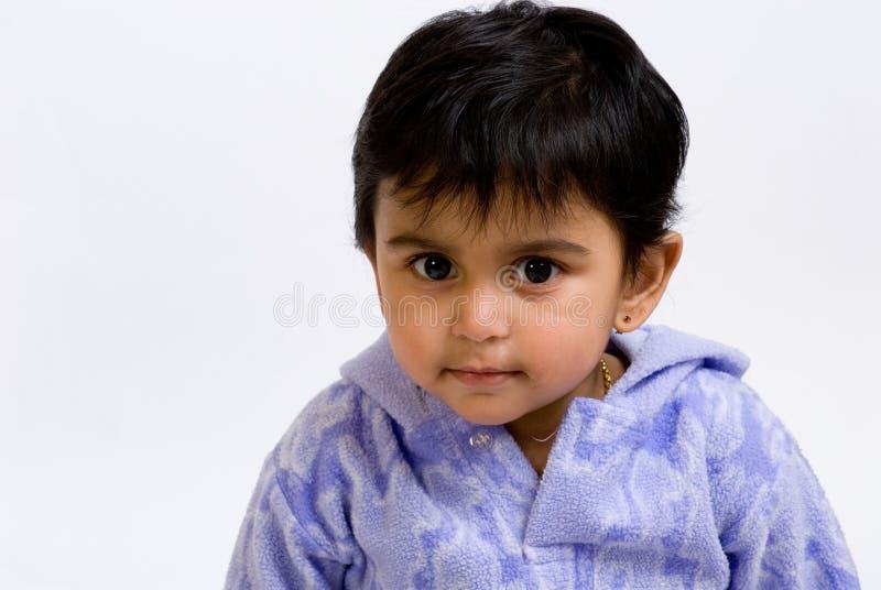 Bambino indiano curioso fotografia stock