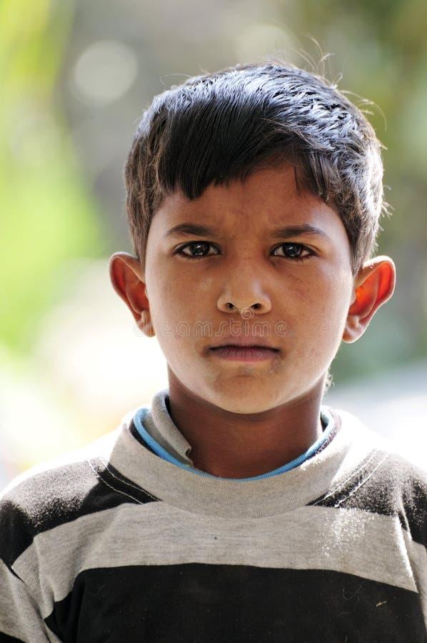 Bambino indiano povero fotografia stock
